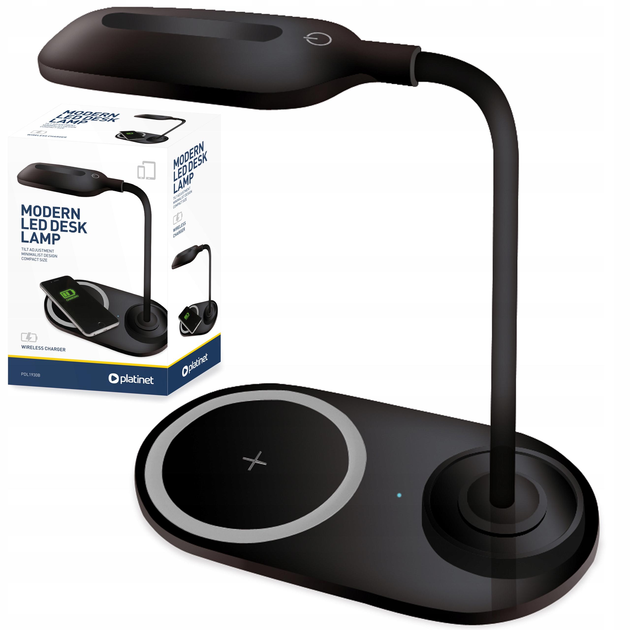 Lampa biurkowa LED z ładowarka indukcyjna QI 5V 1A