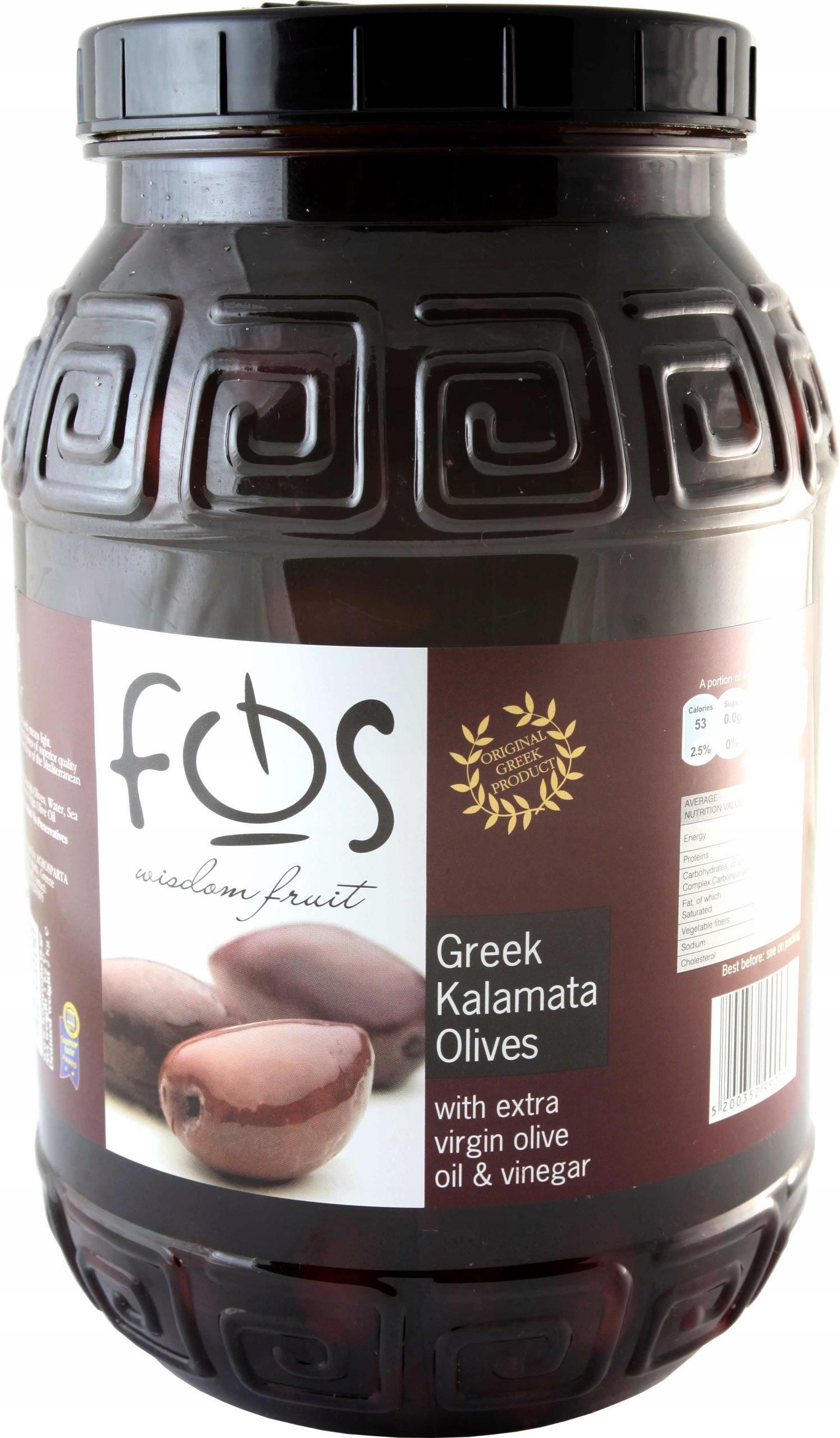 SKVELÉ KALAMATA olivy s rastlinného oleja (s kosťou), 3kg