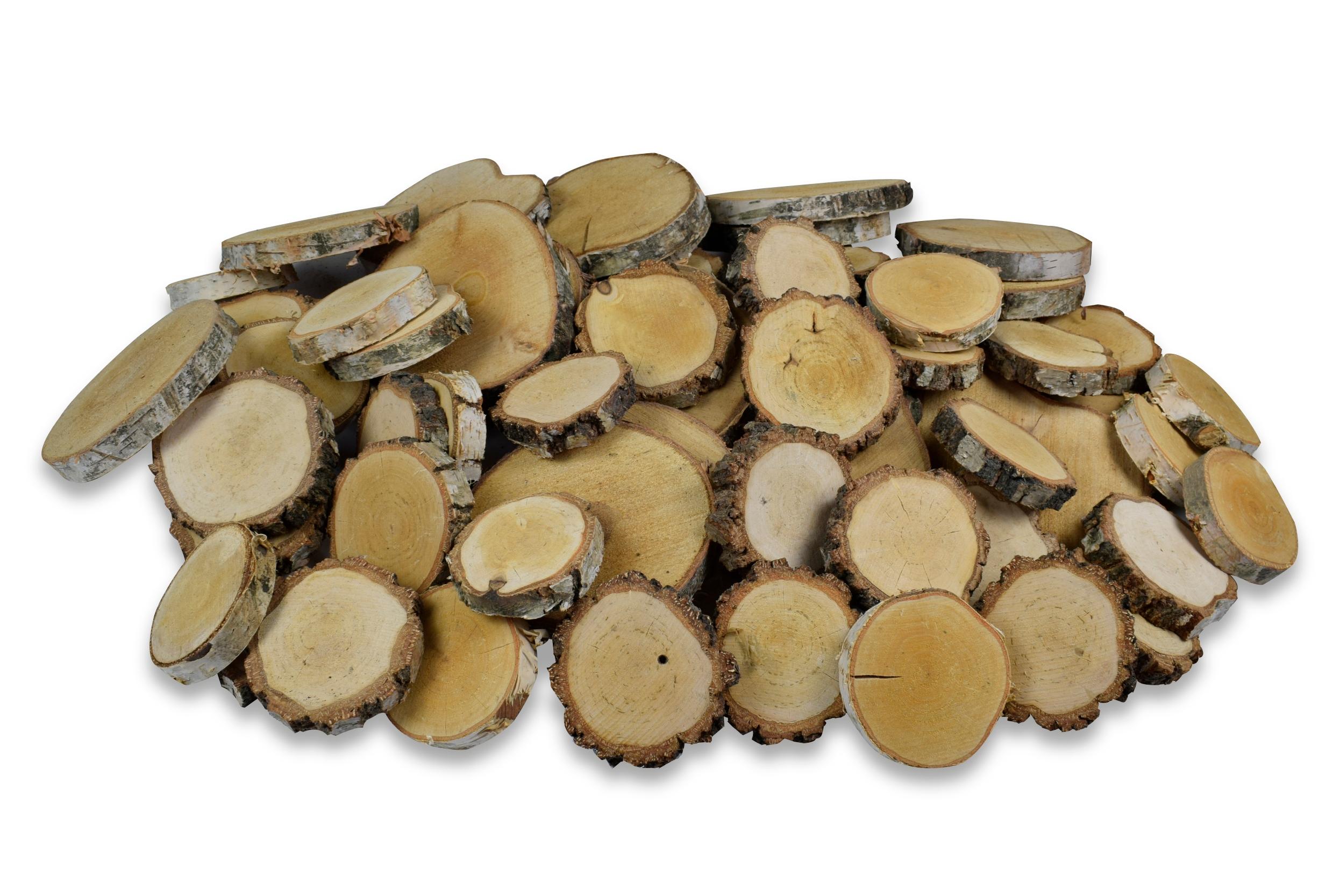 Krążki brzozowe, 1m2, panele drewniane, 2 cm