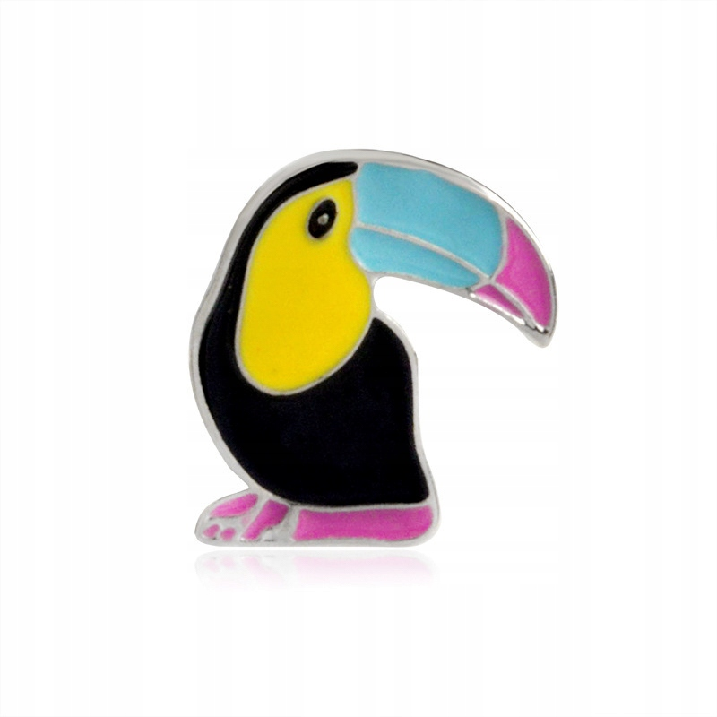 Pins tukan Ptak emaliowana przypinka