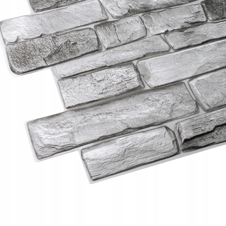 Ścienne Panele ŁUPEK KAMIEŃ 3D PCV STONE GREY