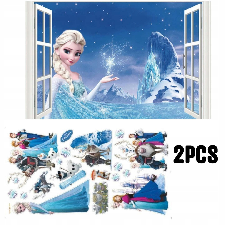FROZEN LAND OF ICE Elsa samolepka na stenu 43 x 70