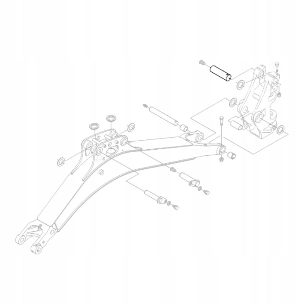 Шкворень KUBOTA RG138-66640 для экскаватора KX018
