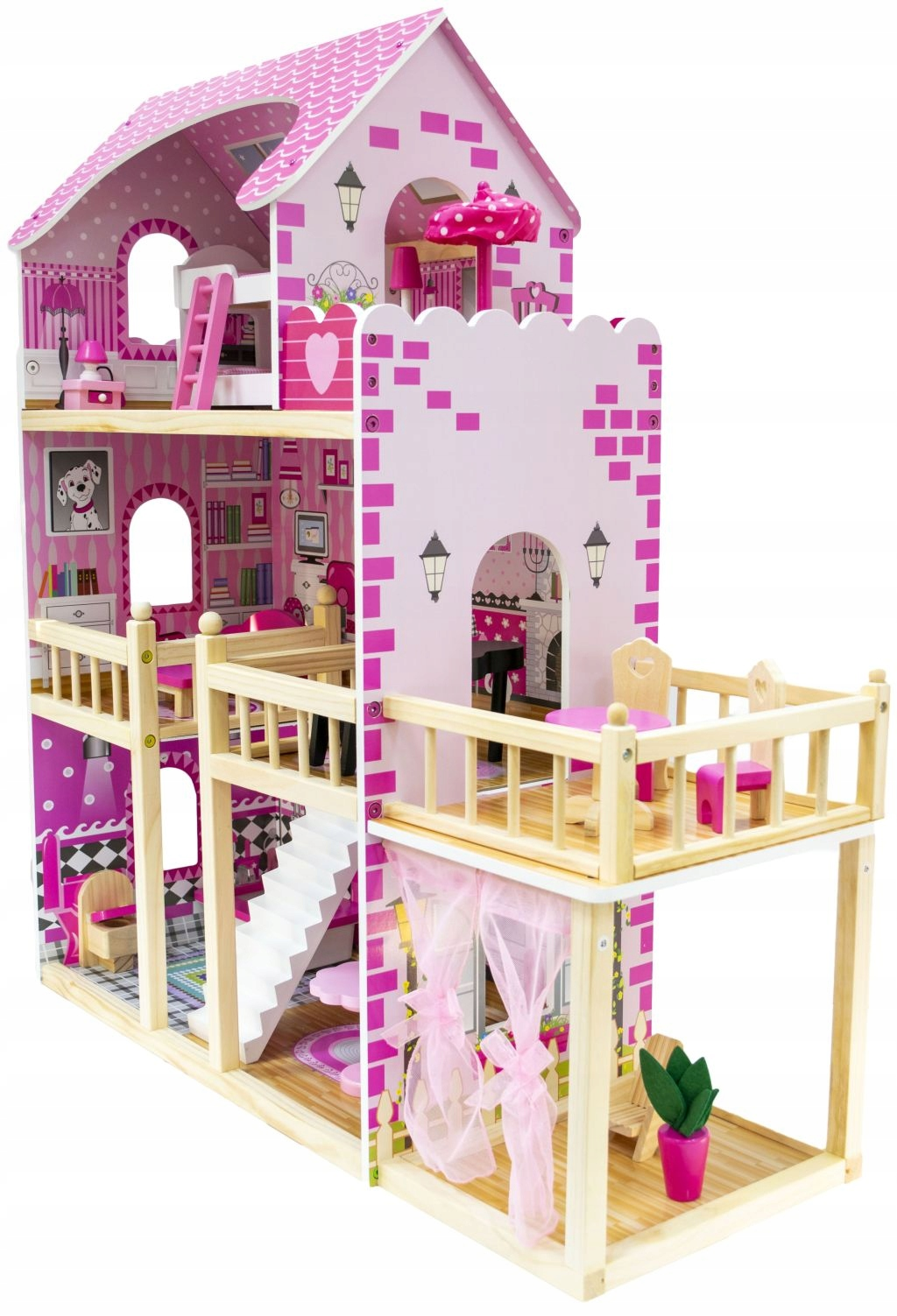 Chata NADIA s terasou altánok pre bábiku veľkosť LOL