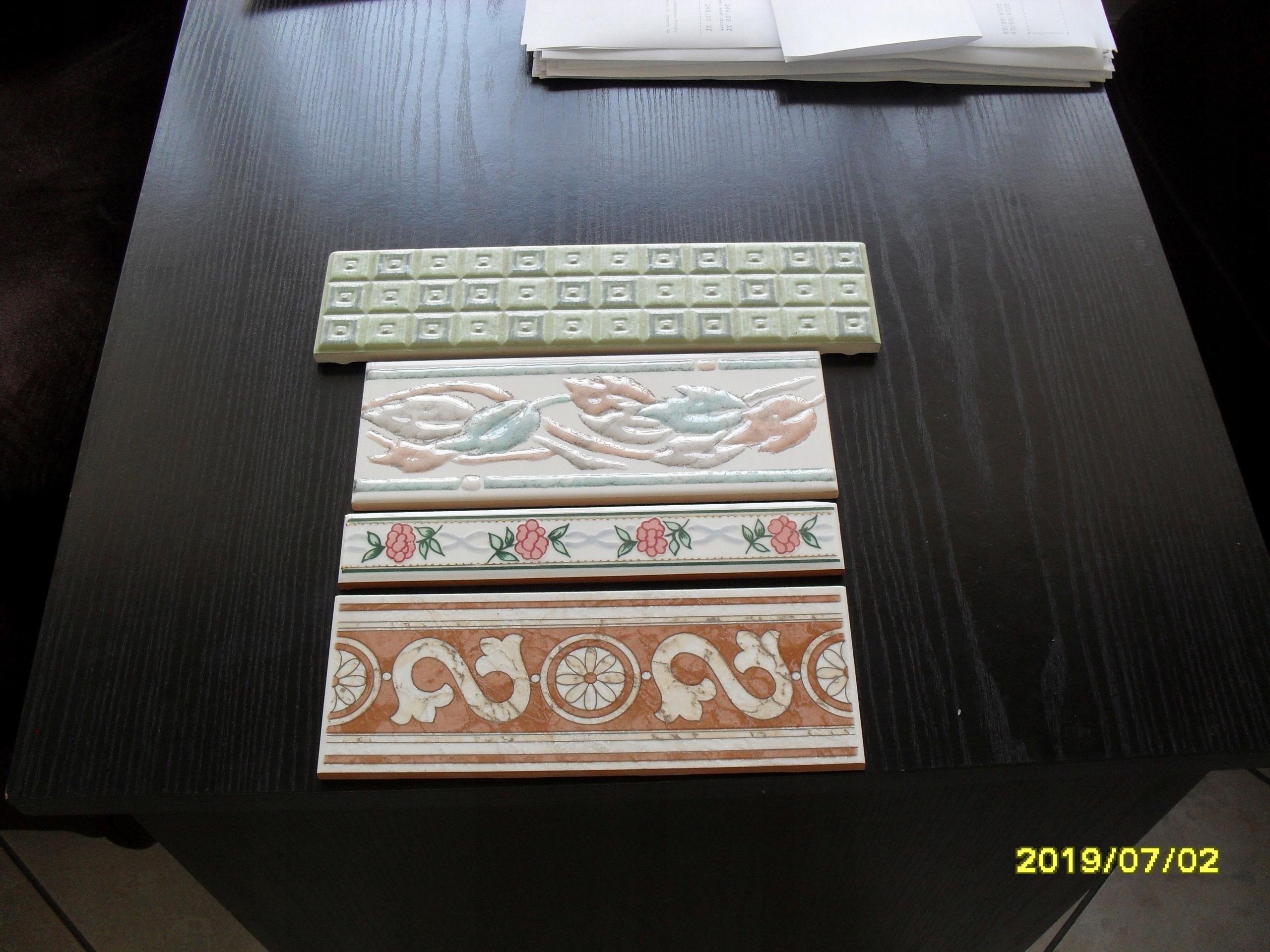 Glazura Listwa Dekoracyjna 20x75 I 20x10