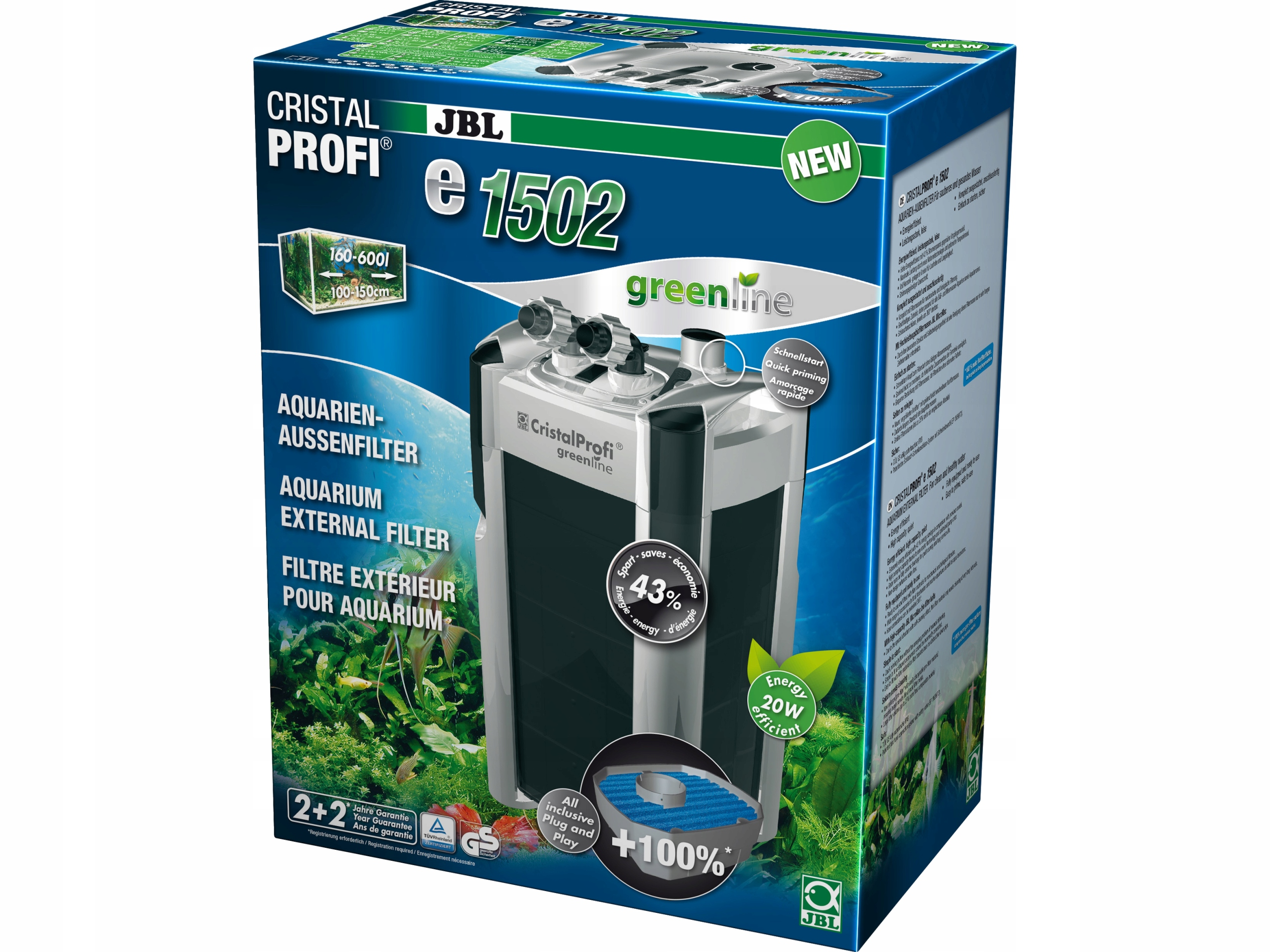 JBL e1502 GreenLine внешний фильтр 200-700l