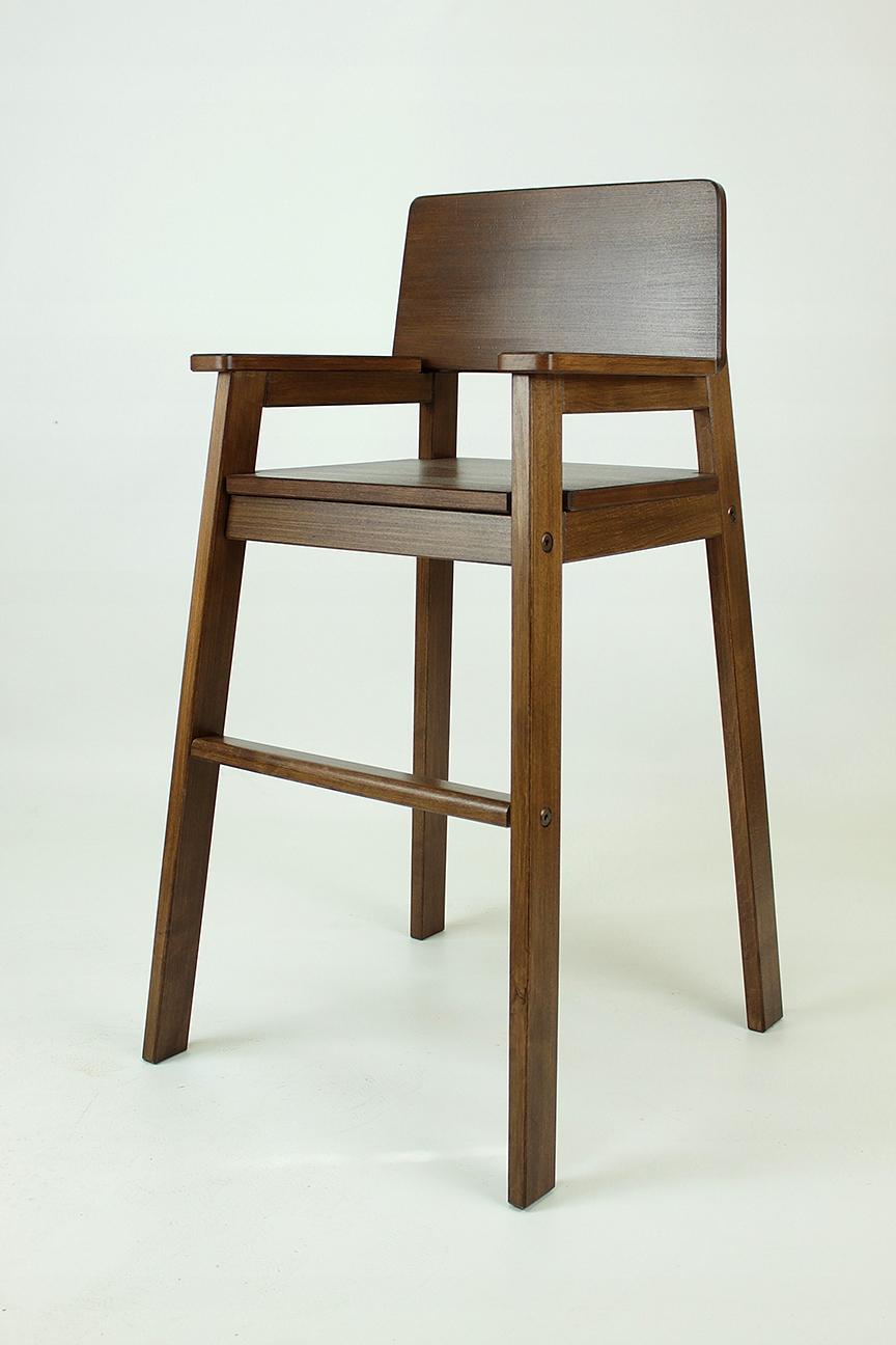 Wysokie krzesełko dla dziecka Do karmienia Drewniane. Kolory