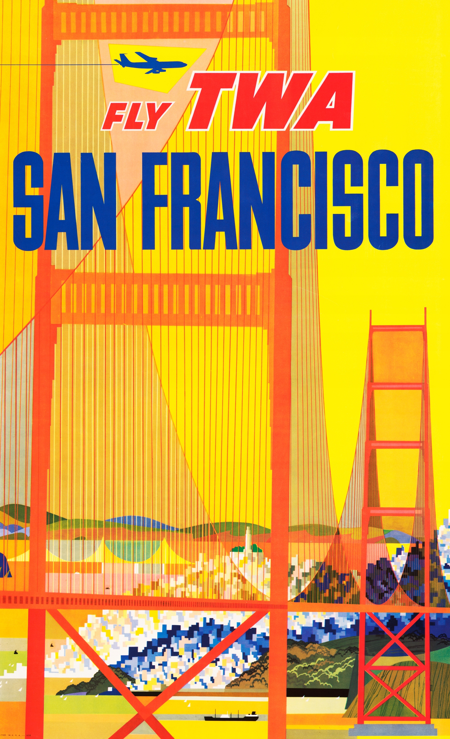 Item poster travel USA San Francisco 98x61 see