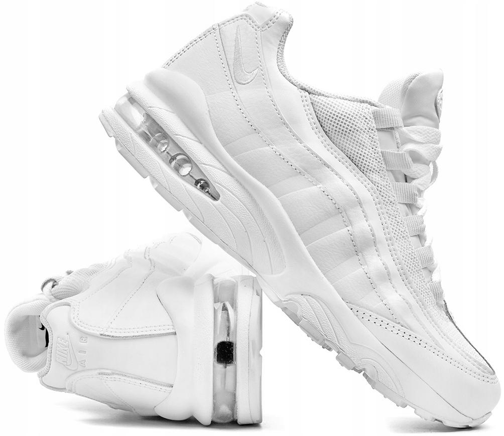 38,5 Buty Nike Air Max 95 AQ3147 100 (gs) Białe Ceny i