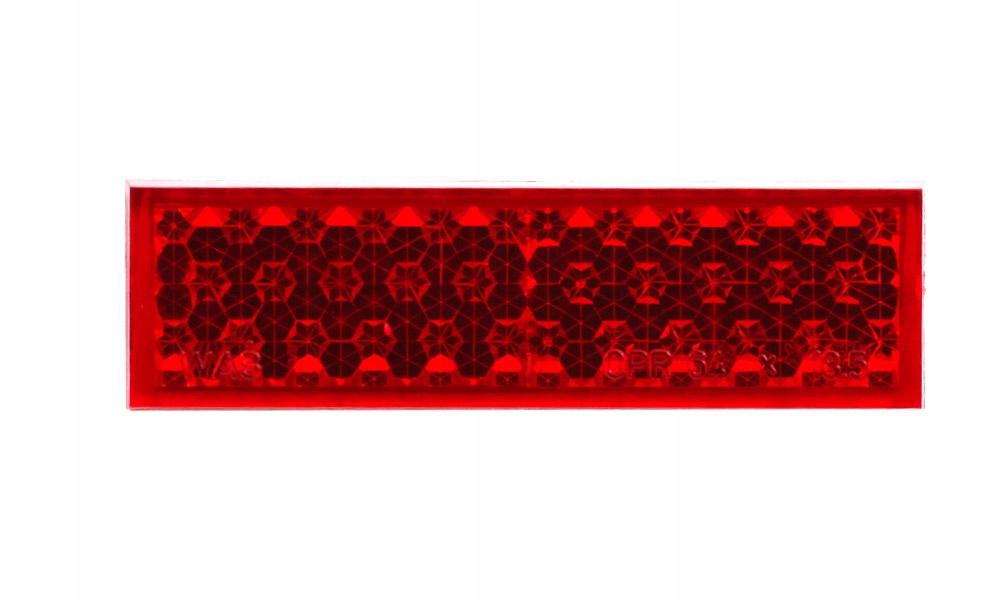 отблеск прямоугольный красный самоклеящаяся