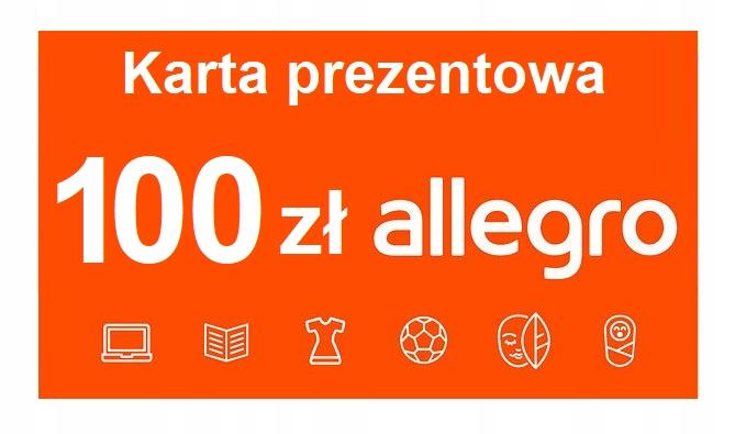 Allegro 100 Zl Karta Podarunkowa Kod 8435418257 Allegro Pl