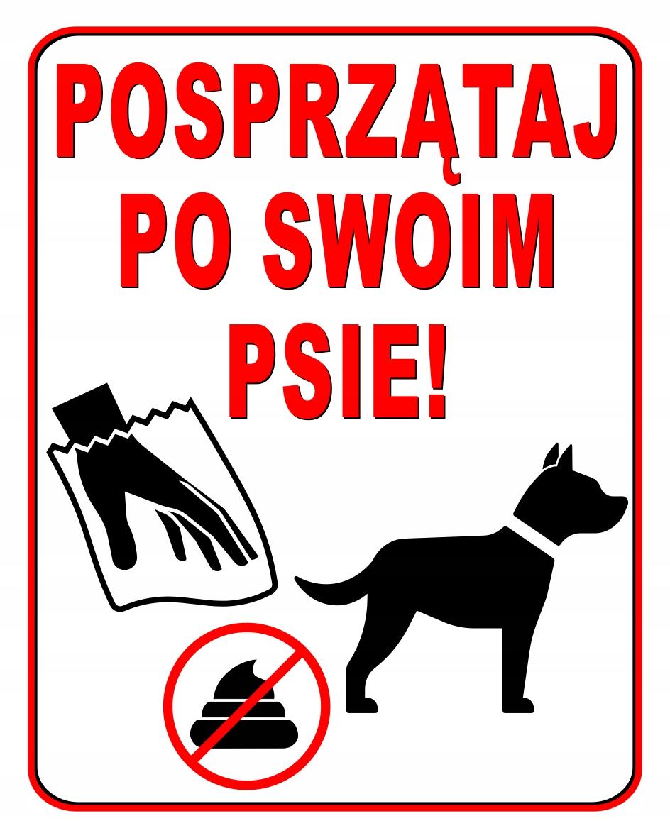 УБИРАЙ за СВОЕЙ собакой ТАБЛИЧКА 25X20cm