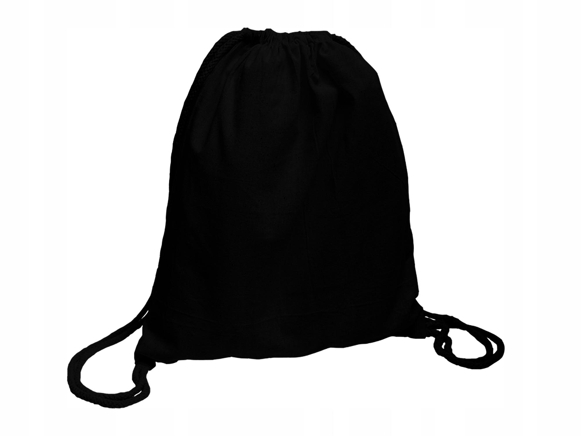 Item Backpack cotton black thick 220g bag 34x40 cm