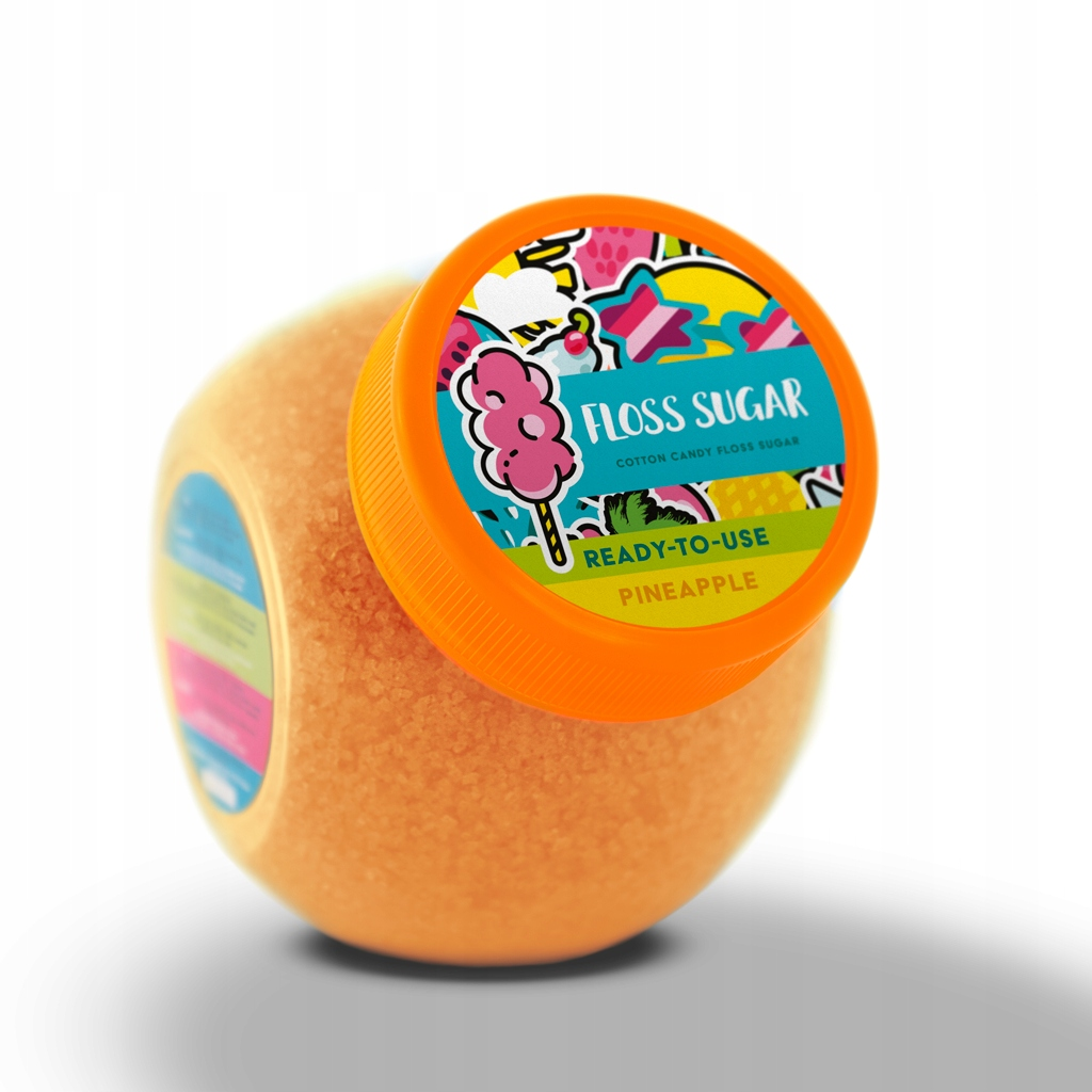 Smakowy Cukier do Waty Cukrowej ANANAS 400G