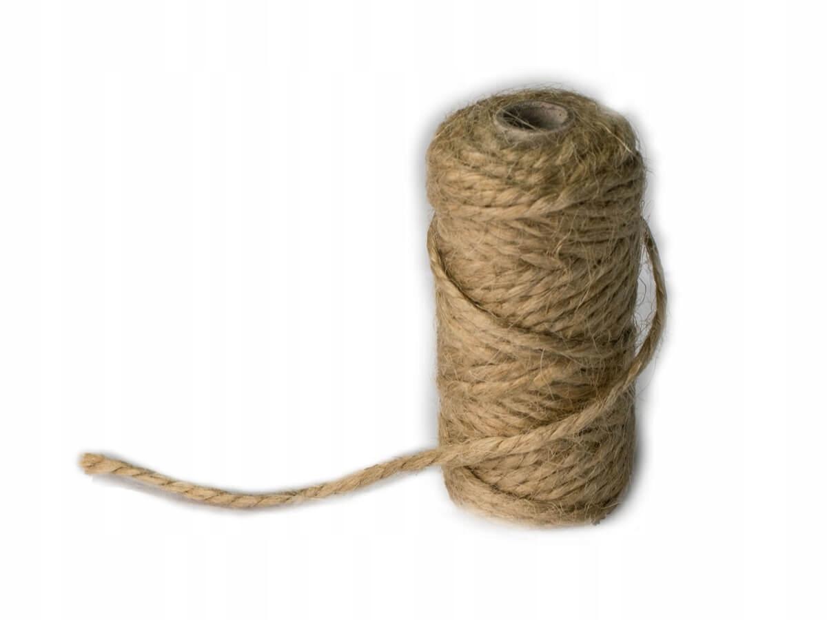 Item 15m Cord jutowy of linen jute twine 2.5 mm