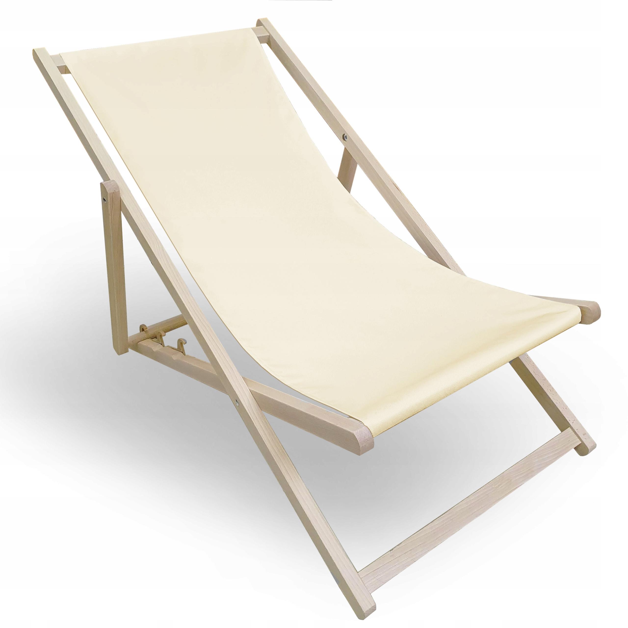Lezak Drewniany Plazowy Ogrodowy Skladany Kolory 9008563048