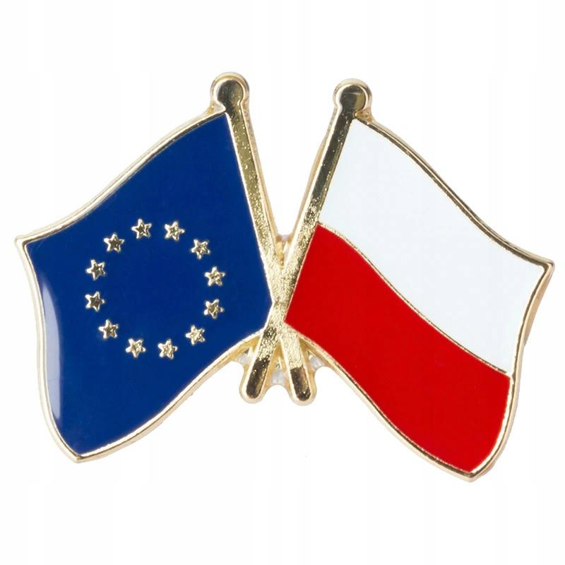 Значок булавки ПОЛЬША ЕС Флаг Европейского Союза