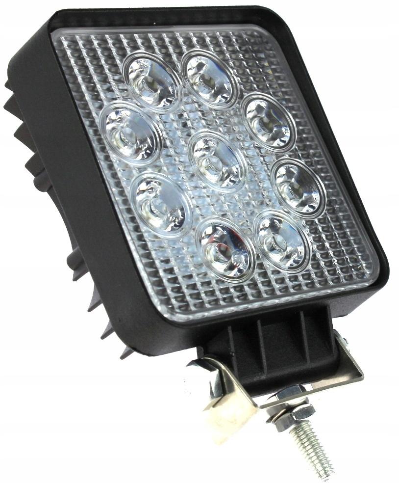 лампа 9 led галоген рабочий 27 w 12-24v диодов квт