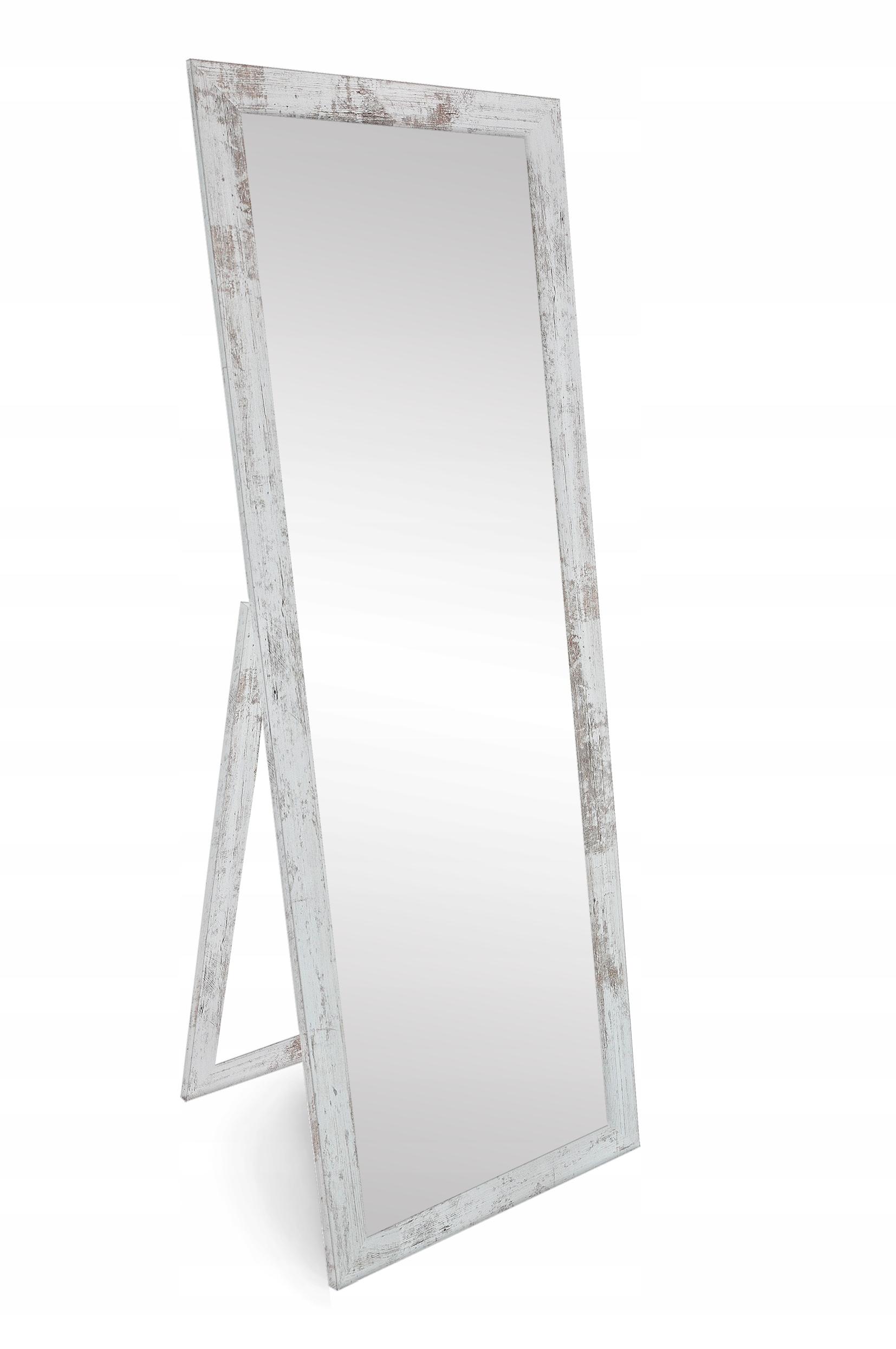 Stojace zrkadlo ošumelé elegantné 160x50 cm Škandinávskych