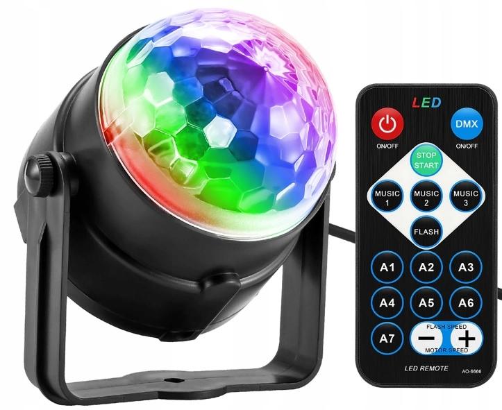 Item DISCO LIGHTS PROJECTOR DISCO BAR BALL LED RGB