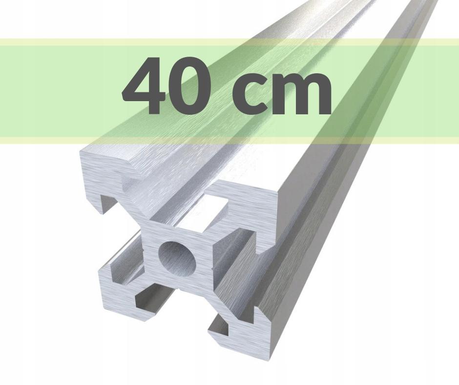 Купить алюминиевый конструкционный профиль 20х20 T6 - 40 см на Otpravka - цены и фото - доставка из Польши и стран Европы в Украину.