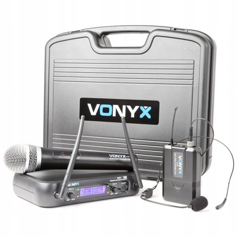 2x bezdrôtový mikrofón fitness aerobik karaoke