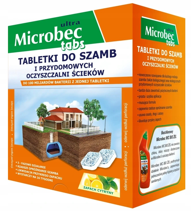 Microbec Подготовка для септических цистерн сточных вод таблетки 16 шт