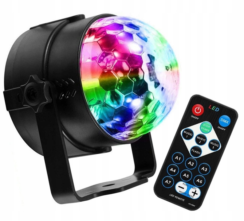 Item PROJECTOR DISCO BAR DISCO BALL LED SPOTLIGHT RGB