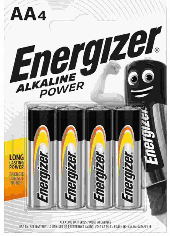 4x Baterie AA 1,5V Alkaline Energizer Power LR6