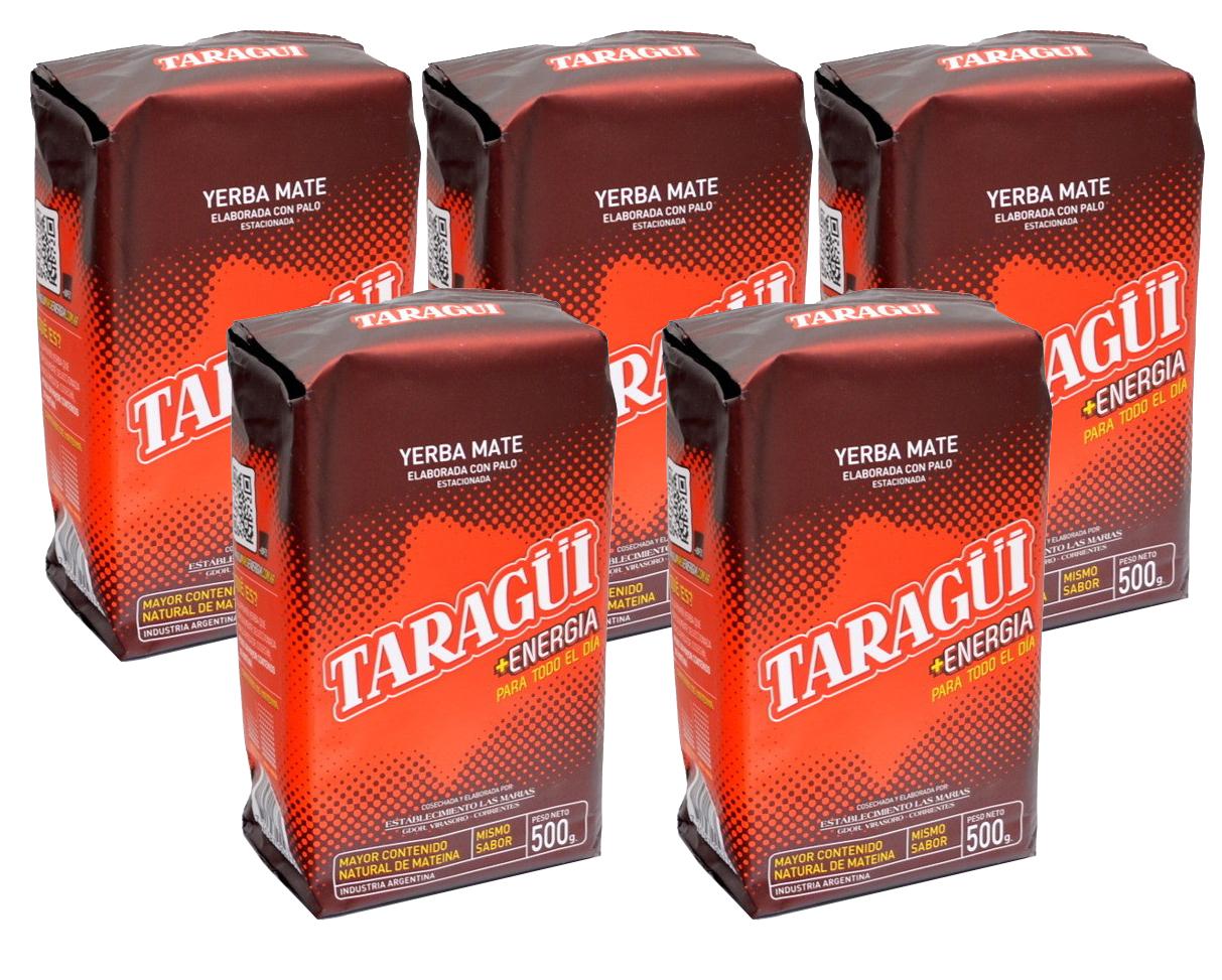 Yerba Mate Taragui Energia 5x500g - 2,5 kg sily !