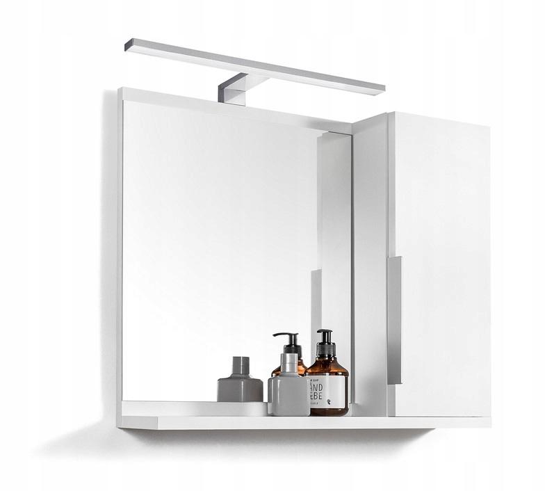 Biała szafka z lustrem lustro z oświetleniem LED
