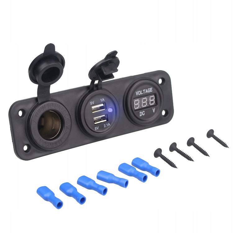 Зажигалка Зажигалка 2x USB WOLTOMIERZ 12В 24В