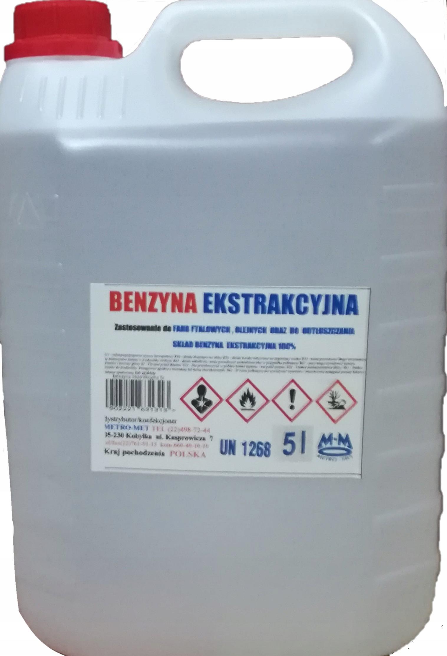 Benzyna Ekstrakcyjna 5 l - BEZZAPACHOWA - PROMOCJA