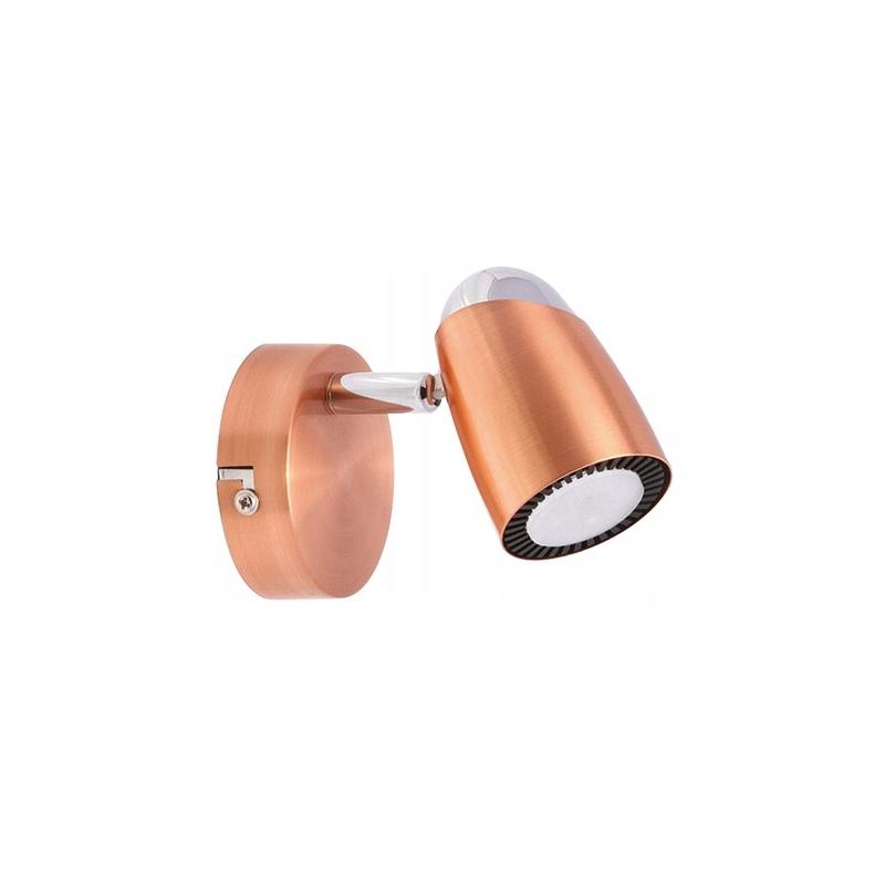 Nástenné svietidlo retro medené RUDY-jedna LED IDEUS