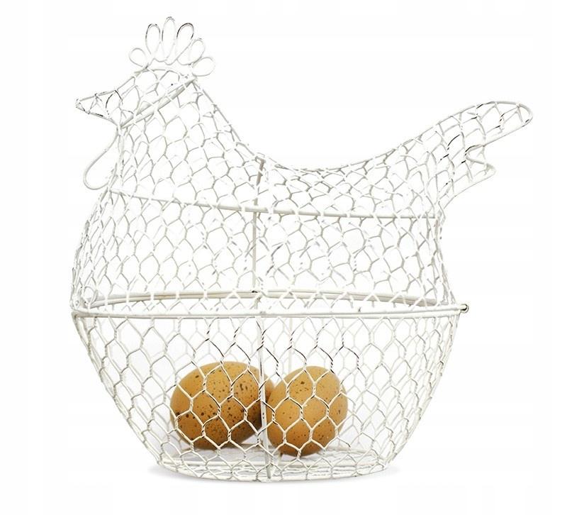 ECRU KURACIE kovu. + 2 vajcia plast. RETRO 28x30x19cm