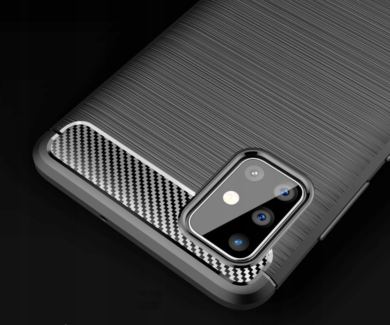 ETUI do Samsung Galaxy M51 KARBON PANCERNE + SZKŁO Typ etui z klapką