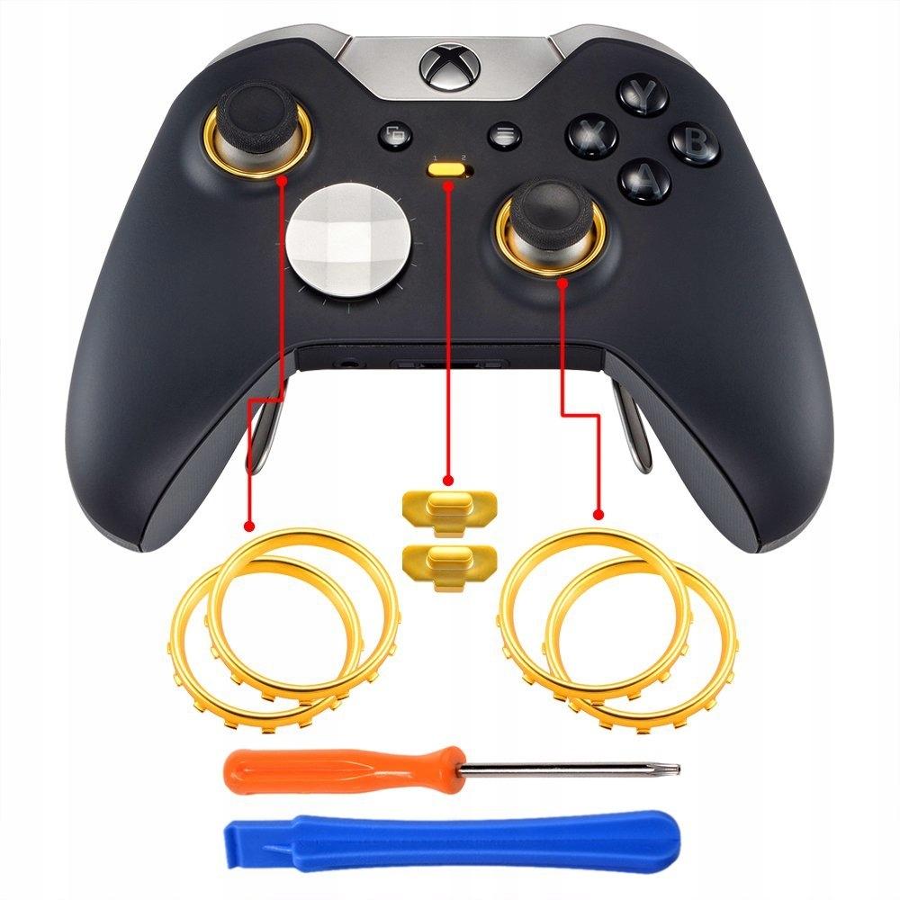 Extrémne spínače Matte Chrome Gold Xbox