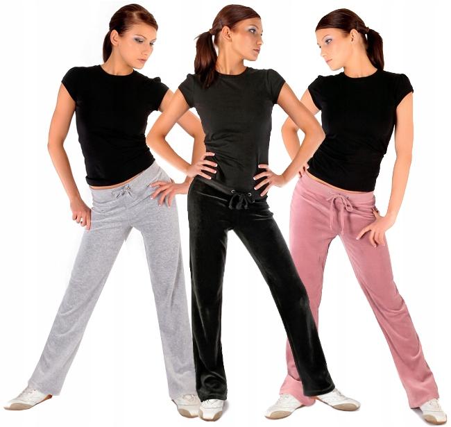 Spodnie Dresowe Welurowe 3XL Fitness Dresy
