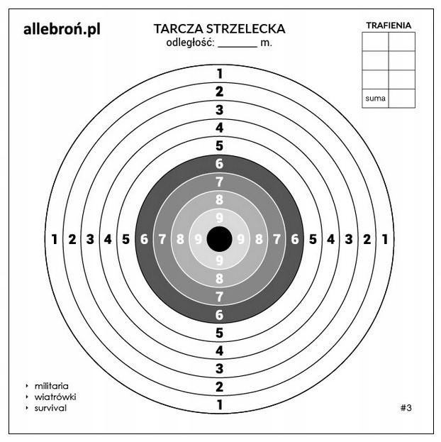 Disky streľba kartón 17x17 cm 1000 Ks #3