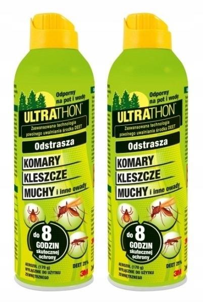 ZESTAW 2x Ultrathon Spray 25% DEET kleszcze komary