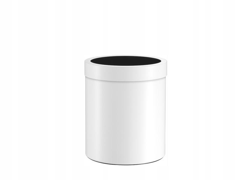 Matný biely okrúhly odpadkový kôš do kúpeľne 5l.