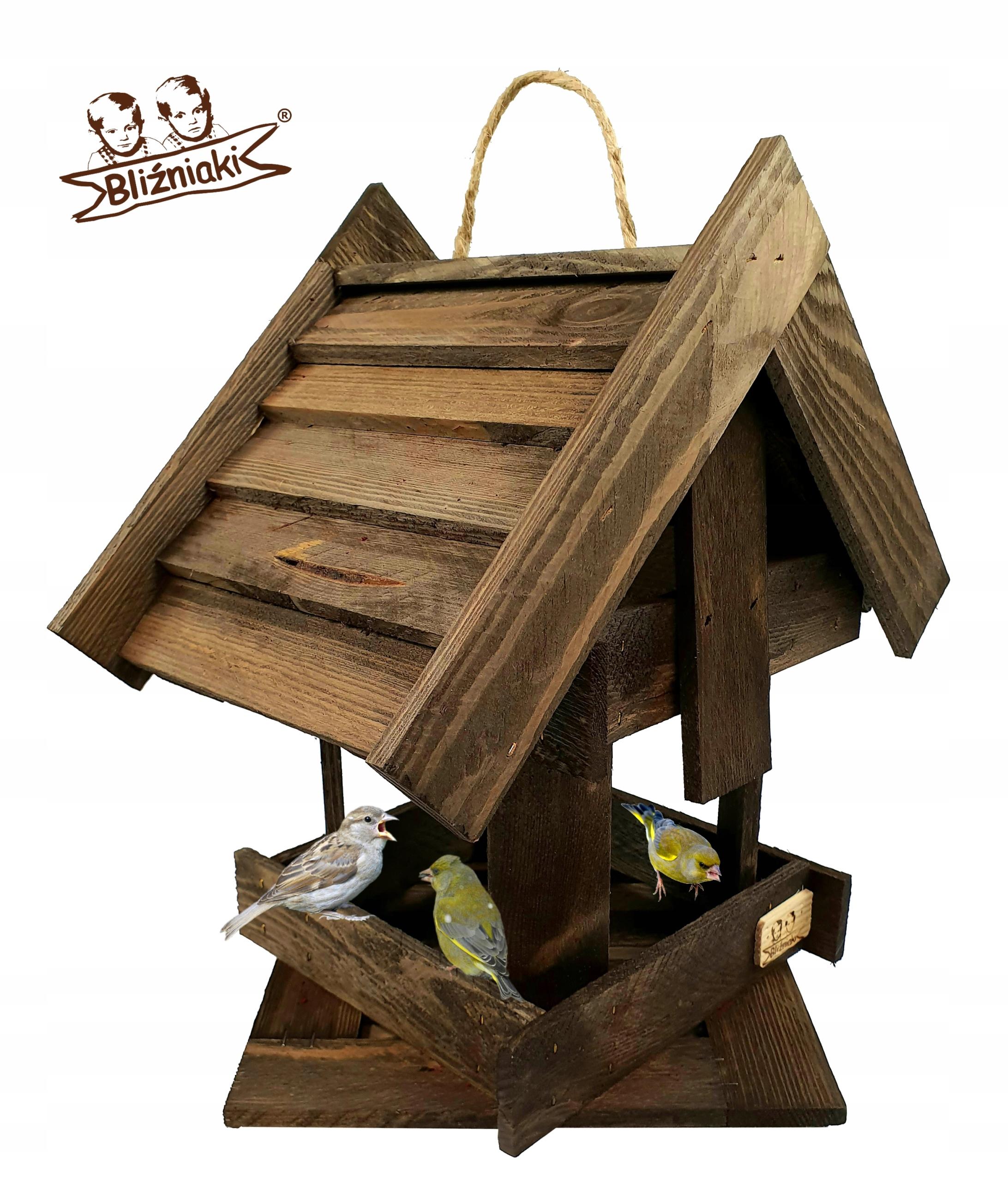 Vták feeder Drevené Okno Visí Dom