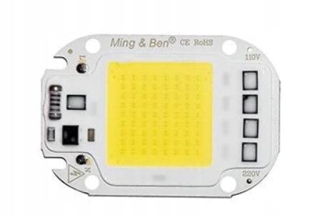 Led cob 50W 220-240V белый+паста+провода+кубик