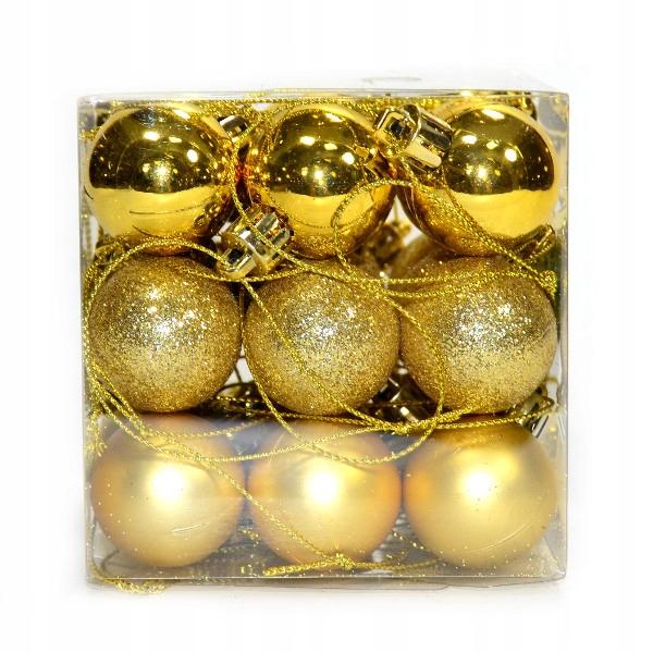 шарики пластиковые ШАРИКИ золотые 3 см/27szt.
