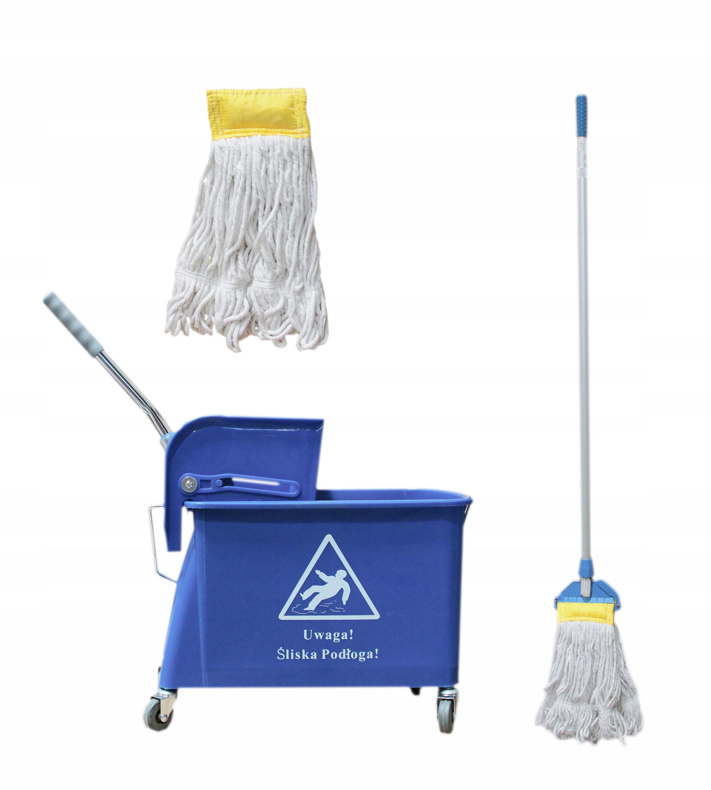 Набор тележка для sprzątania20L+моп кентукки+запас