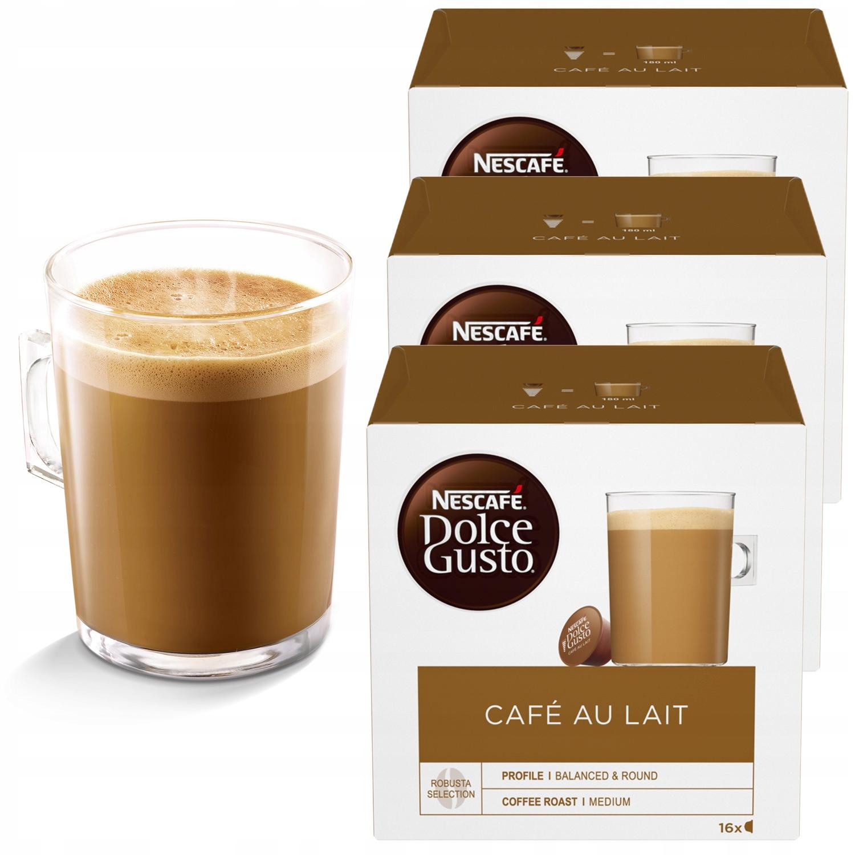 Nescafe Dolce Gusto кофе Café Au Lait 48 штук 3x16