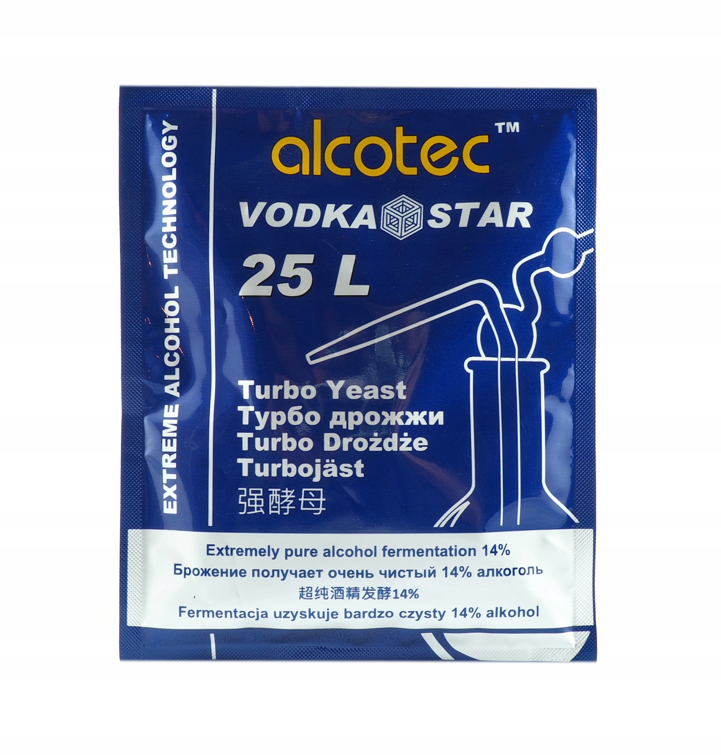 дрожжи для дистилляции Alcotec Vodka Star Турбо pure