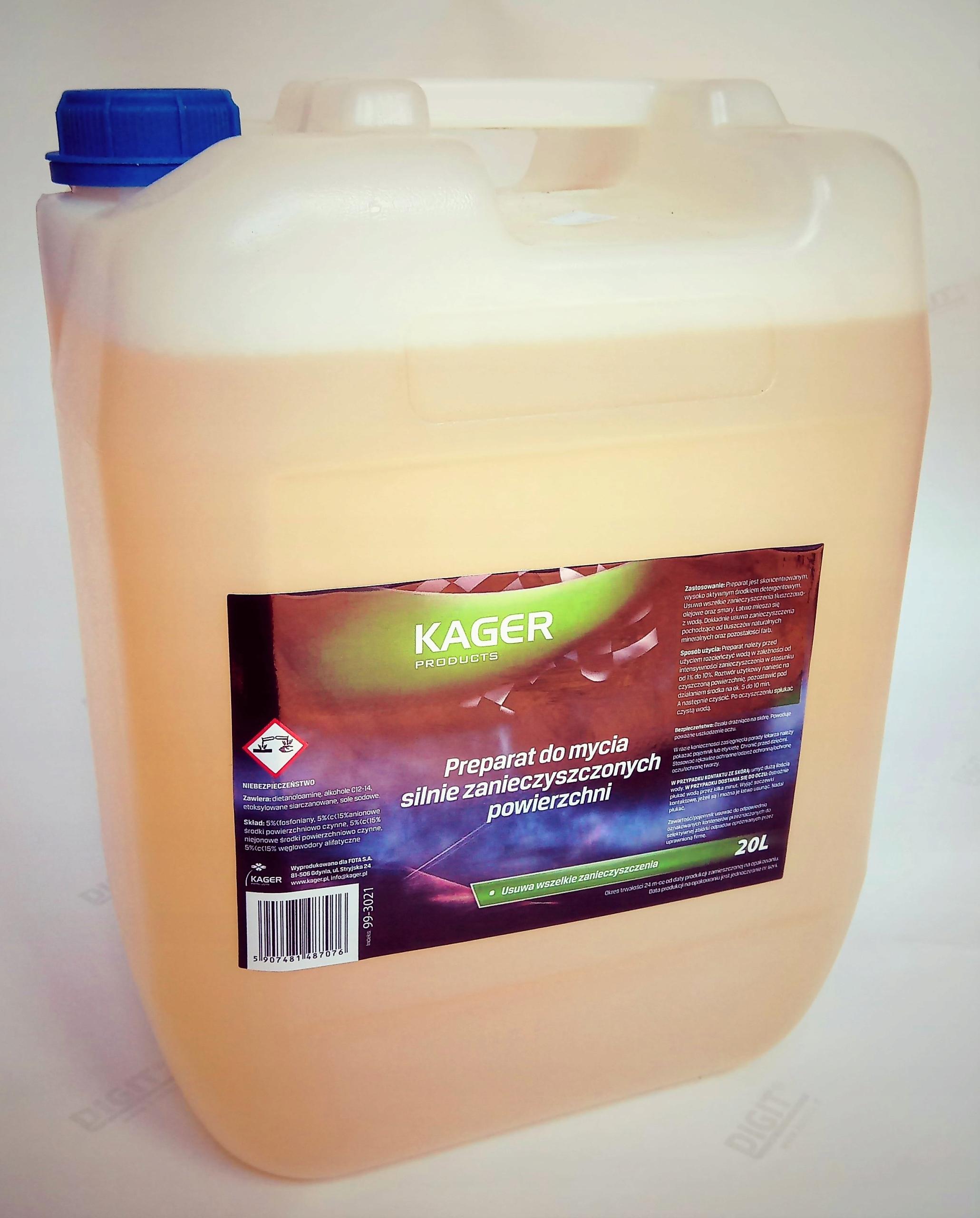 Подготовка для сильнозагрязненных поверхностей KAGER 20 L
