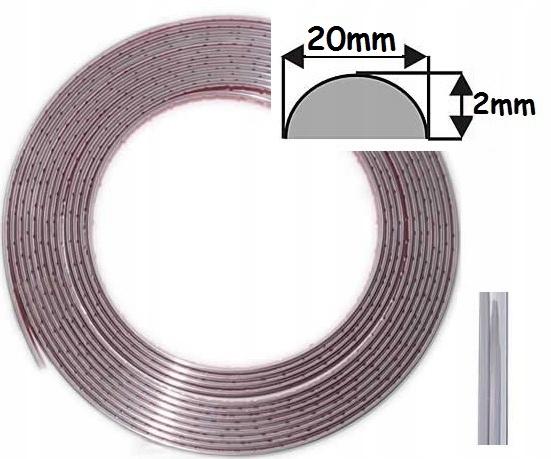 Накладка декоративная лента хром хром 20 мм 20 мм/1