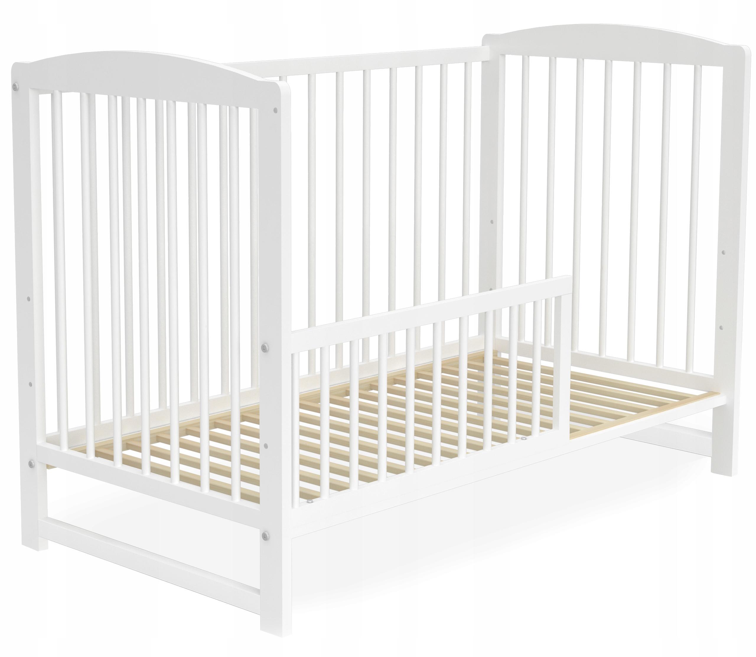 Łóżeczko dziecięce 60x120 cm ADAŚ białe 2w1 Kod producenta T-ADAB-X-060-120-BIA-BIA-X-X-SD